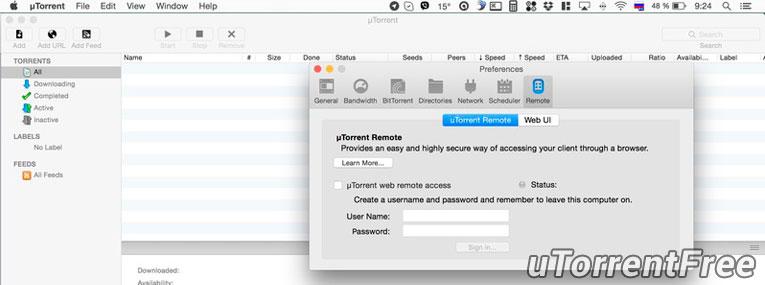 uTorrent для Mac OS X